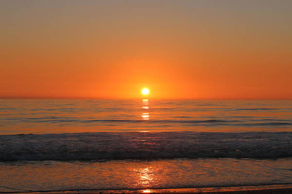 Photograph - Ocean Sunset -2  by Christy Pooschke