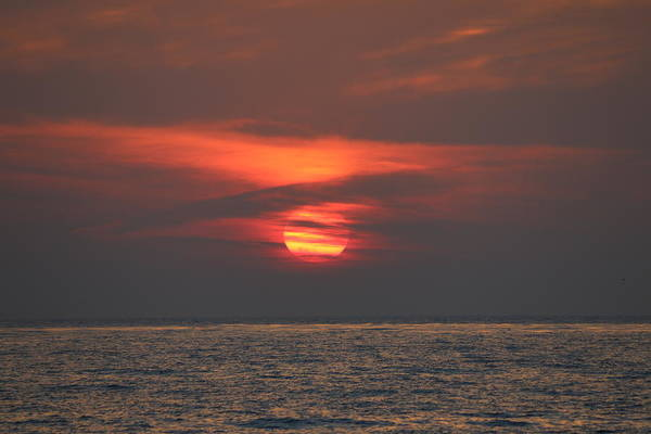 Photograph - Ocean Sunset - 6 by Christy Pooschke