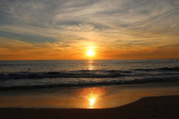 Photograph - Ocean Sunset - 7 by Christy Pooschke