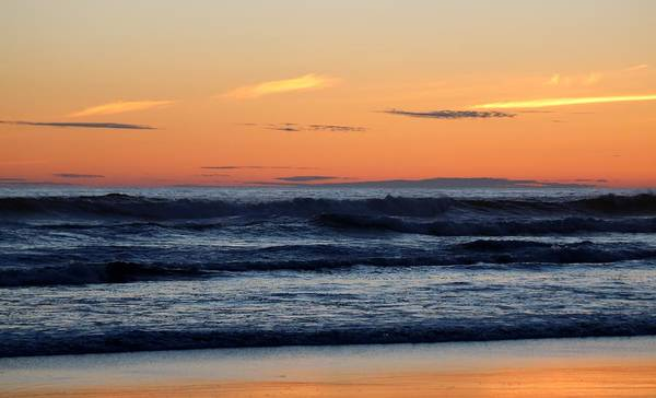 Photograph - Ocean Sunset At Cape Disappointment State Park  by Christy Pooschke