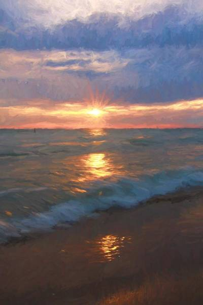Wall Art - Painting - Ocean Sunset by Dan Sproul