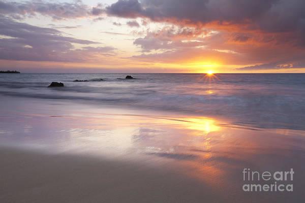 Photograph - Ocean Sunset - Hapuna Beach by Charmian Vistaunet