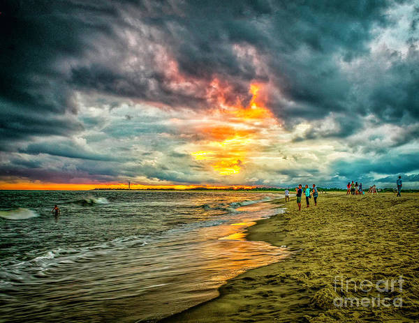 Wall Art - Photograph - Ocean Sunset In Cape May by Nick Zelinsky