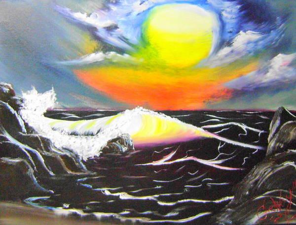 Wall Art - Painting - Ocean Sunset by Nathaniel Gawayne Sutton