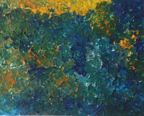 Sunset Painting - Ocean Sunset by Shanna Spann