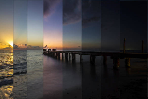 Photograph - Ocean Sunset Time Slice  by Sven Brogren