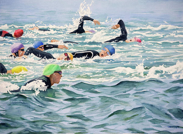 Painting - Ocean Swimmers by Christopher Reid
