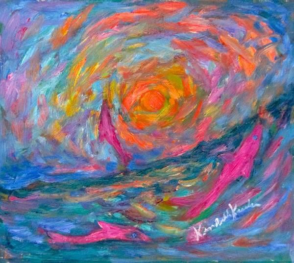 Painting - Ocean Swirl by Kendall Kessler