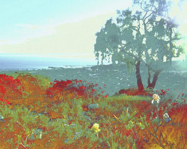 Wall Art - Mixed Media - Ocean View by Marie Louise Anhalt