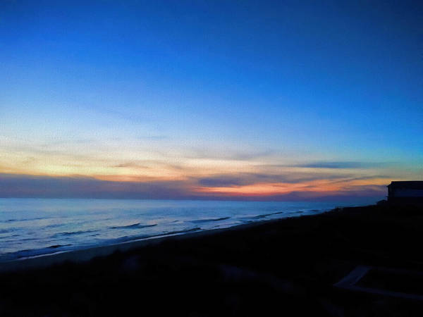 Photograph - Ocean View Of Sunset On The Beach At Cape San Blas, Florida by WildBird Photographs