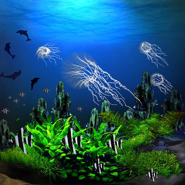 Digital Art - Ocean View Under The Sea by Artful Oasis