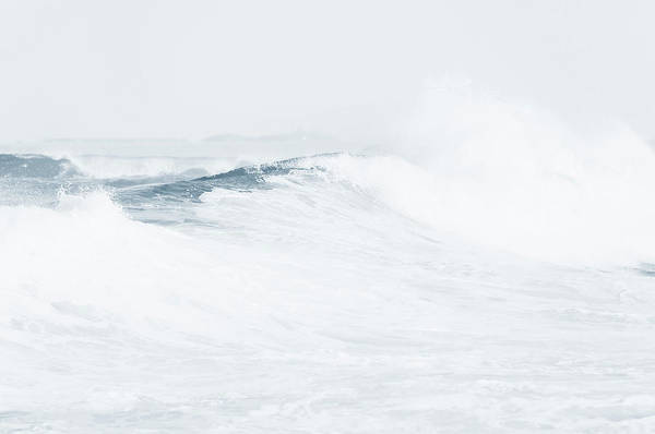 Photograph - Ocean Wave. Series Ethereal Blue by Jenny Rainbow