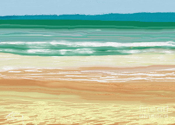 Wall Art - Digital Art - Ocean Waves And Sunny Days by Julie Grimshaw