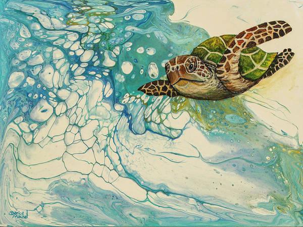 Honu Wall Art - Painting - Ocean's Call by Darice Machel McGuire