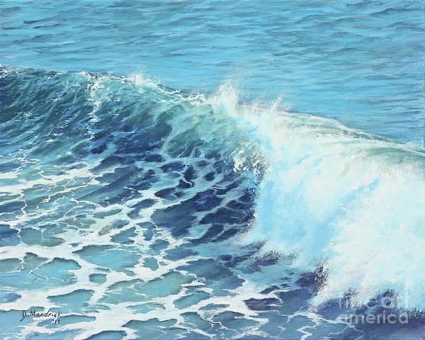 Surfer Painting - Ocean's Might by Joe Mandrick