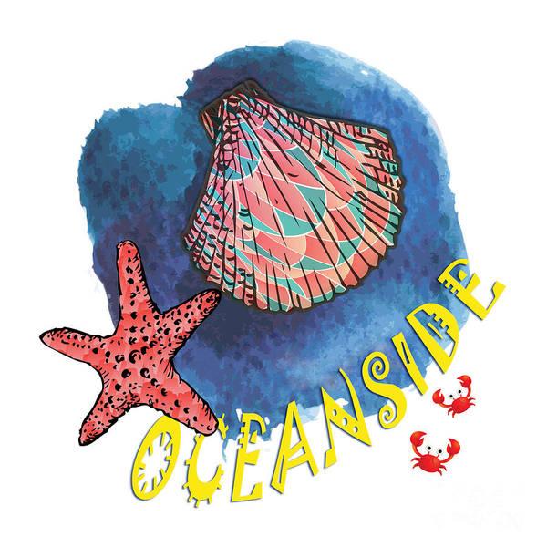 Summertime Digital Art - Oceanside by Gaspar Avila