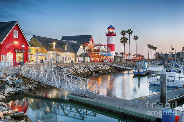 Photograph - Oceanside Harbor Village At Dusk by David Levin