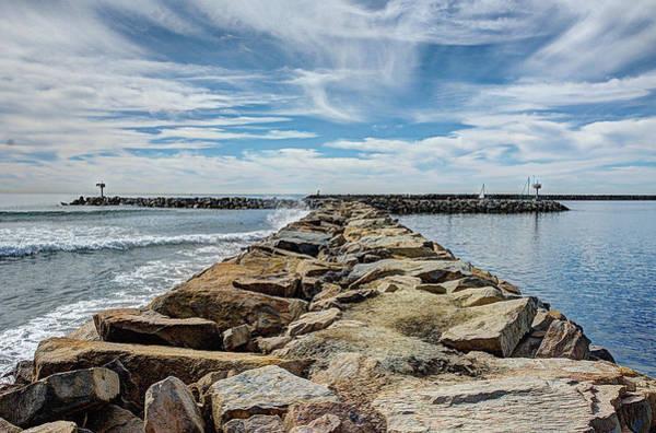 Blue Wall Art - Photograph - Oceanside Jetty by Ann Patterson