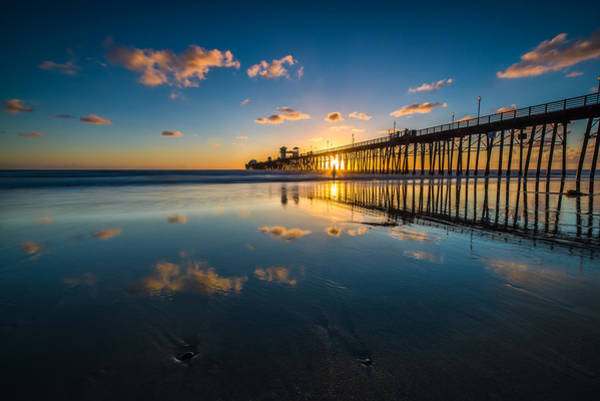 Wall Art - Photograph - Oceanside Pier Reflections by Larry Marshall