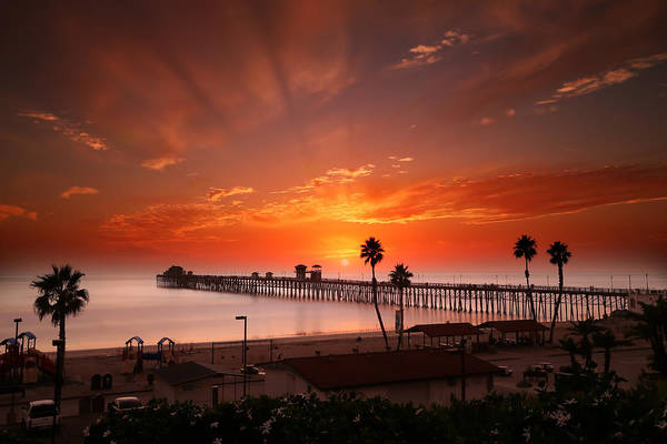 Oceanside Sunset 9 Art Print