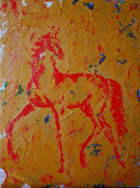 Painting - Ochre Horse by Emily Page