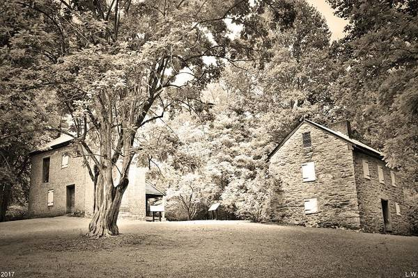 Photograph - Oconee Station Historical Site Black And White by Lisa Wooten
