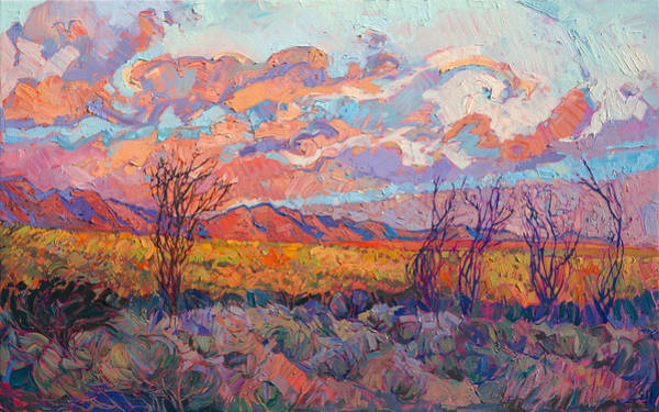 Wall Art - Painting - Ocotillo Gathering by Erin Hanson