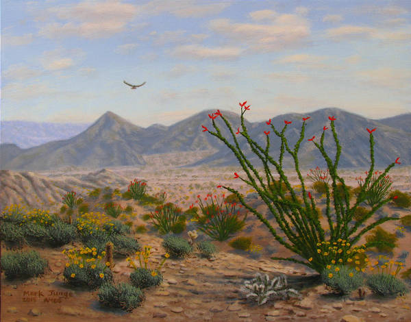 Wall Art - Painting - Ocotillo Paradise by Mark Junge
