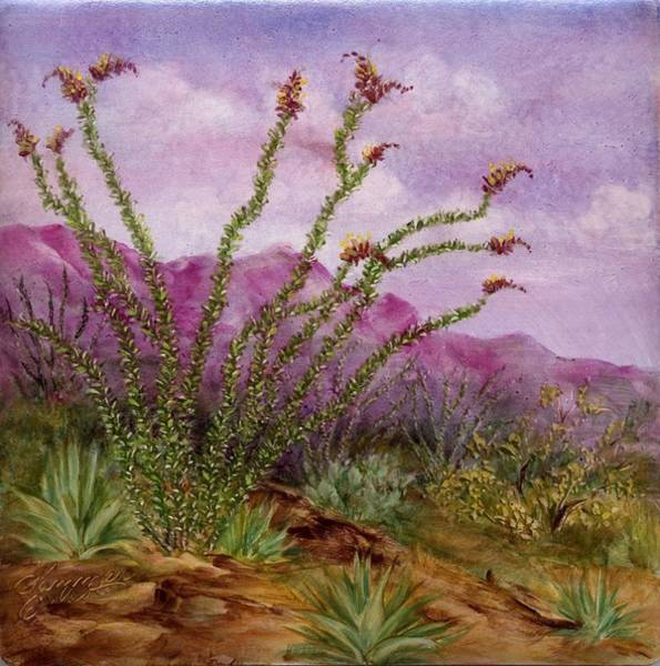 Painting - Ocotillo Scene1 by Summer Celeste