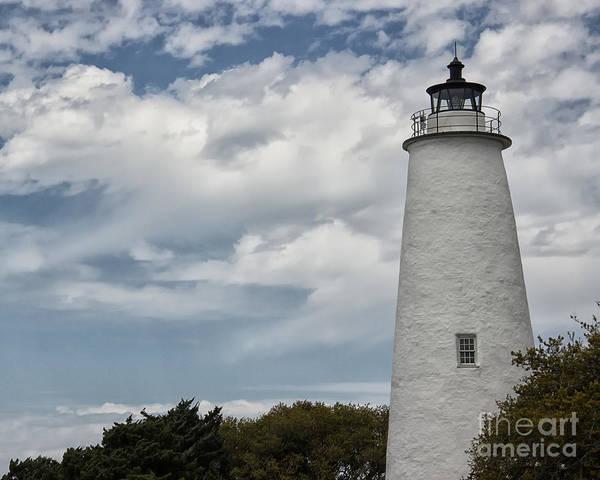 Ocracoke Lighthouse Photograph - Ocracoke Island Lighthouse by Tom Gari Gallery-Three-Photography