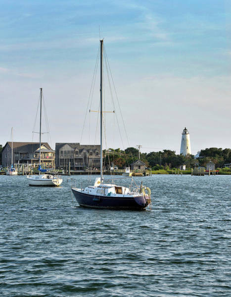Wall Art - Photograph - Ocracoke Island - Silver Lake And Lighthouse by Brendan Reals