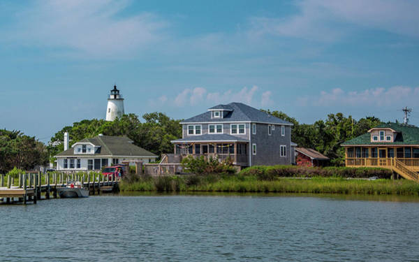 Ocracoke Lighthouse Photograph - Ocracoke Island - Silver Lake by Connie Mitchell