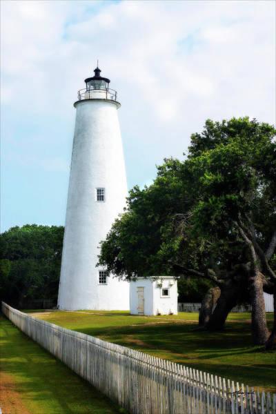 Ocracoke Lighthouse Photograph - Ocracoke Lighthouse by Alan Hausenflock
