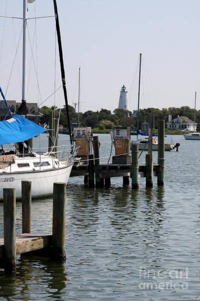 Ocracoke Lighthouse Photograph - Ocracoke Lighthouse And Jetty by Christiane Schulze Art And Photography