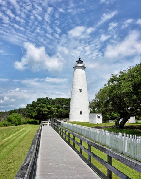 Wall Art - Photograph - Ocracoke Lighthouse - Outer Banks by Brendan Reals