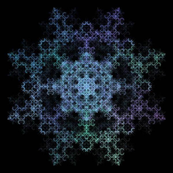 Recursion Wall Art - Digital Art - Octagonal Star Fractal by Thomas Pendock