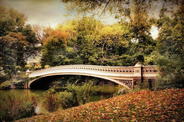 Footbridge Photograph - October At Bow Bridge by Jessica Jenney