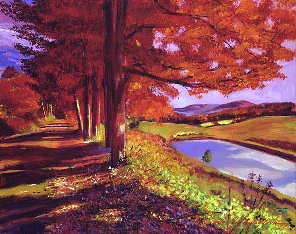 Wall Art - Painting - October Country Road by David Lloyd Glover