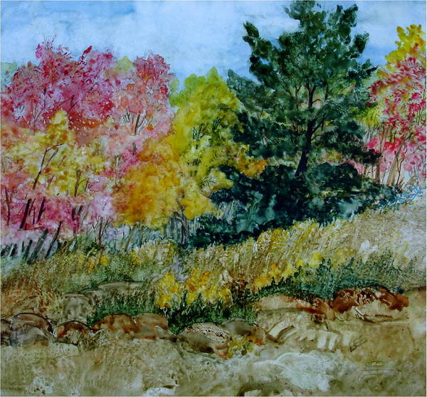 Painting - October Day by Pamela Lee