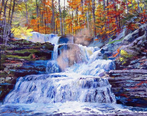 Painting - October Falls by David Lloyd Glover