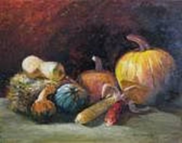 Wall Art - Painting - October Harvest by Jan Harvey