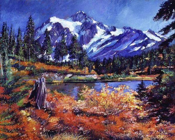 Cascade Painting - October Lake - Mount Shuksan by David Lloyd Glover