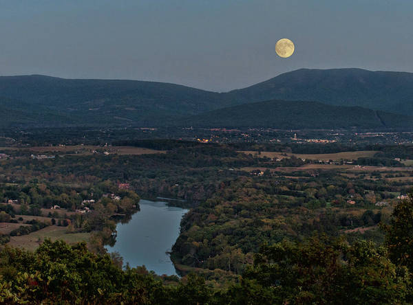 Photograph - October Moon Over Shenandoah by Lara Ellis
