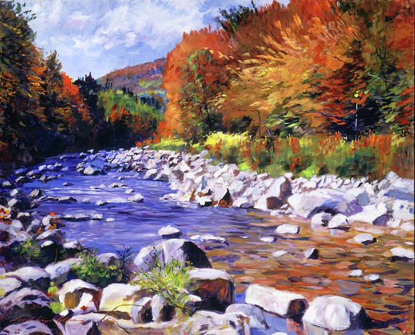 Wall Art - Painting - October River Run by David Lloyd Glover
