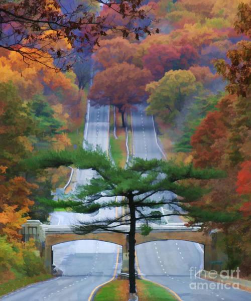 Orange County Digital Art - October Road by Christine Segalas
