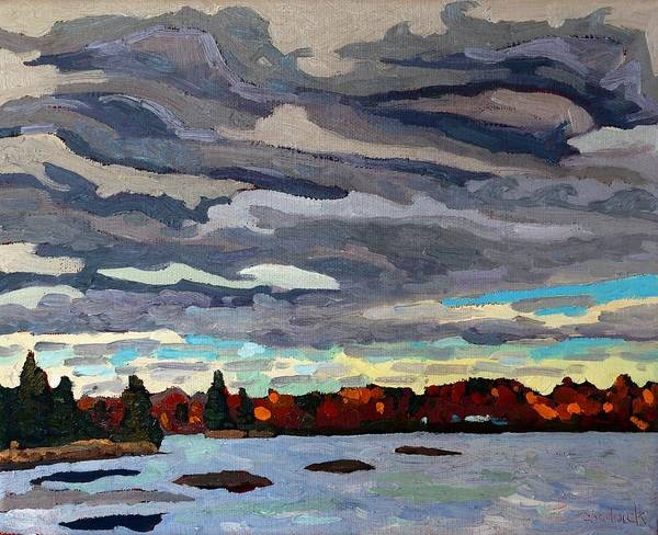 Stratocumulus Painting - October Sky 2014 by Phil Chadwick