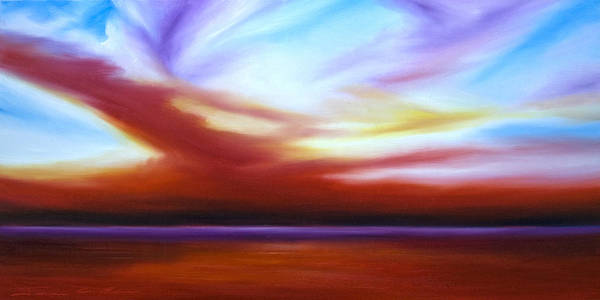 Painting - October Sky IIi by James Christopher Hill