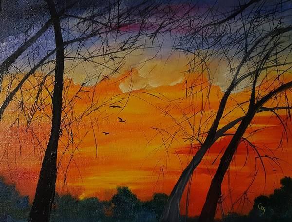 Painting - October Sky In Montana        61 by Cheryl Nancy Ann Gordon