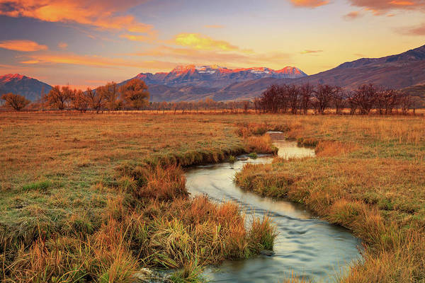 October Sunrise In Heber Valley. Art Print