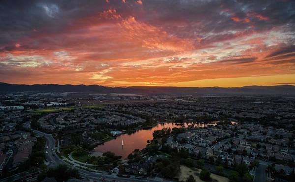 Photograph - October Sunset 2016 Lake Harveston by Adam Rainoff